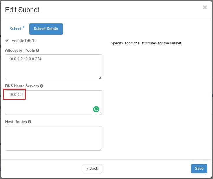 openstack subnet edit
