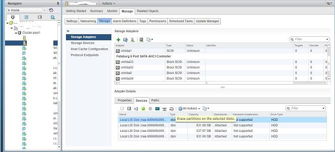 Fix vCenter storage errors