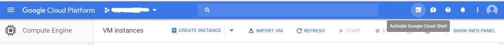google cloud shell